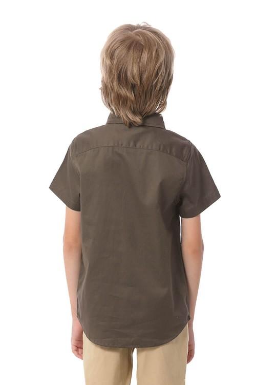 قميص اولاد بلون القهوة