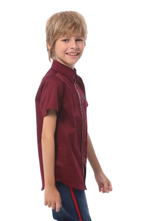 قميص اولاد لون خمري