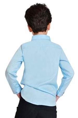 قميص اولاد لون ازرق فاتح