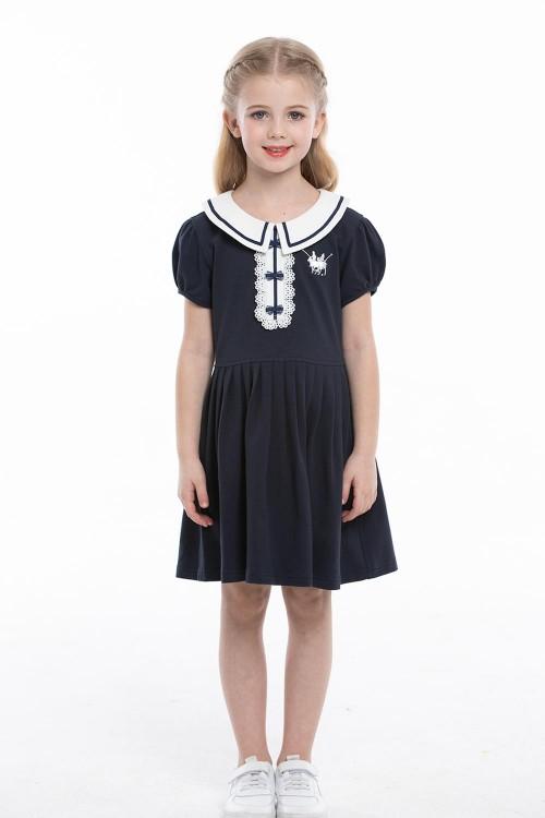 فستان بولو بناتي لون كحلي