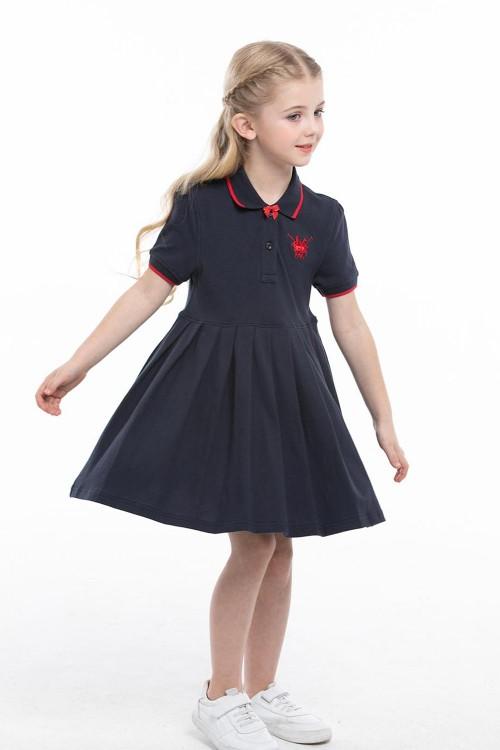 فستان بولو بناتي كحلي