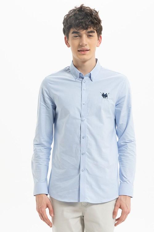قميص رجالي ازرق