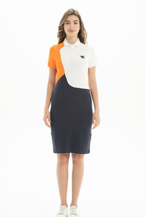 فستان بولو نسائي متعدد الالوان