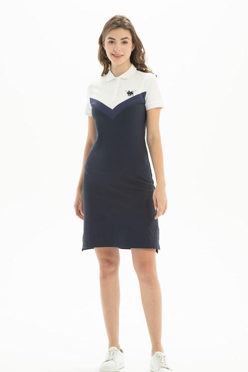 فستان بولو نسائي كحلي