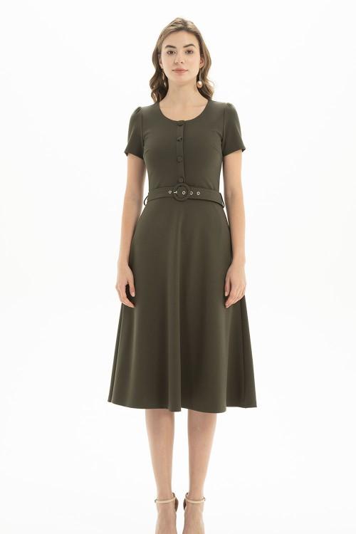 فستان نسائي لون اخضر