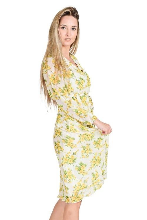 فستان نسائي اصفر