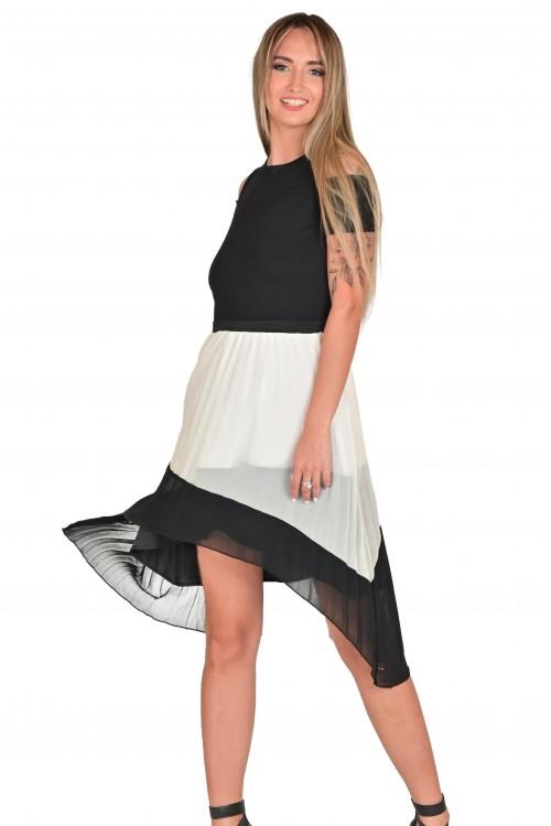 فستان ابيض واسود نسائي