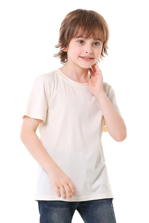 تيشيرت اولاد لون مشمشي