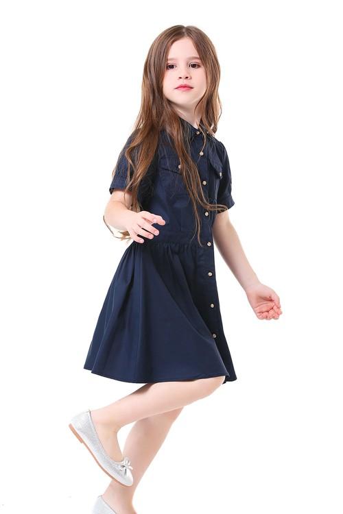 فستان بناتي كحلي