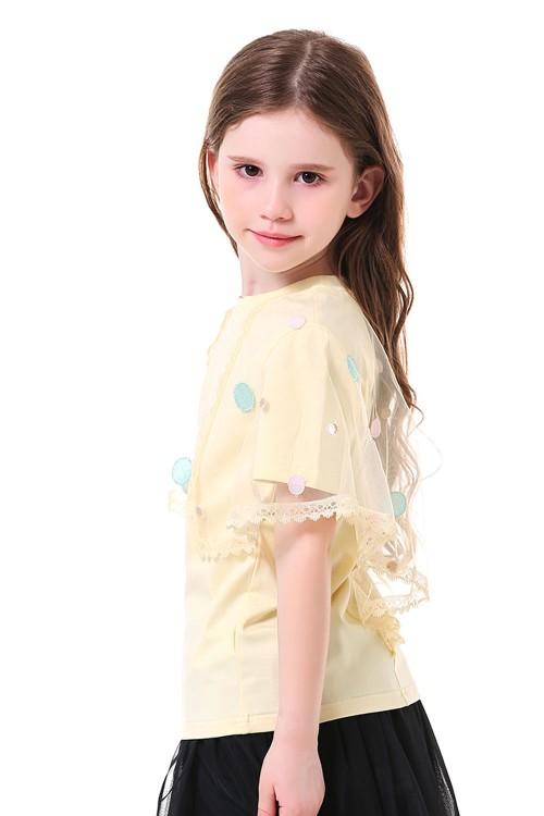بلوزة بناتي لون مشمشي