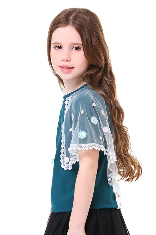 بلوزة بناتي لون اخضر زيتوني