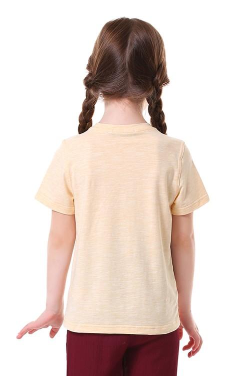 تيشيرت بناتي لون اصفر فاتح