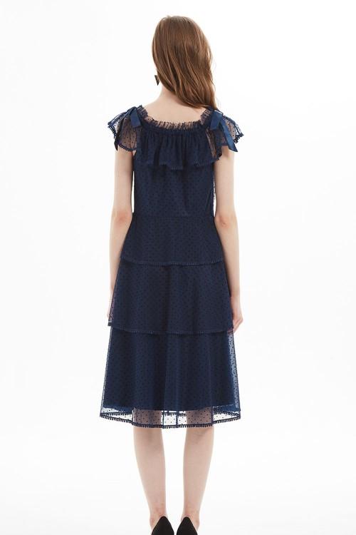 فستان نسائي لون كحلي