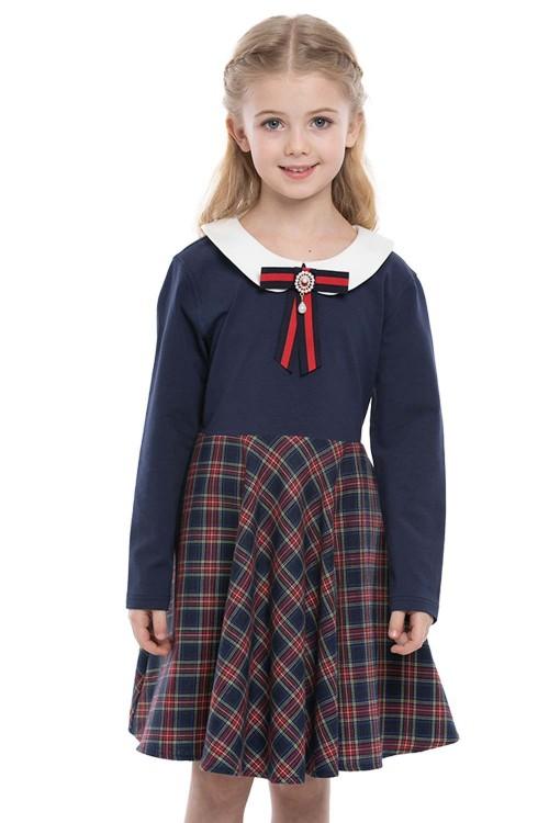 فستان بناتي لون كحلي