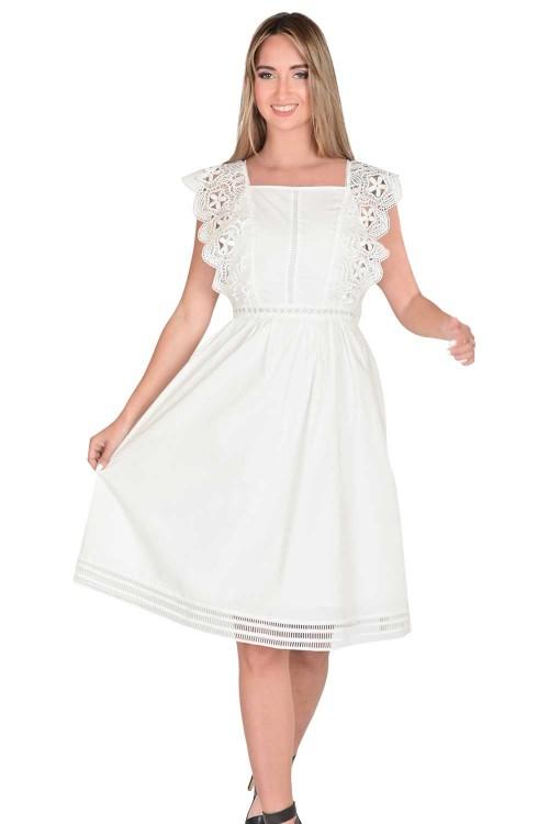 فستان نسائي ابيض