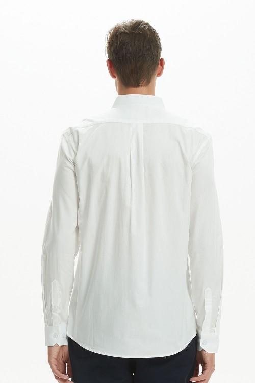 قميص رجال لون ابيض