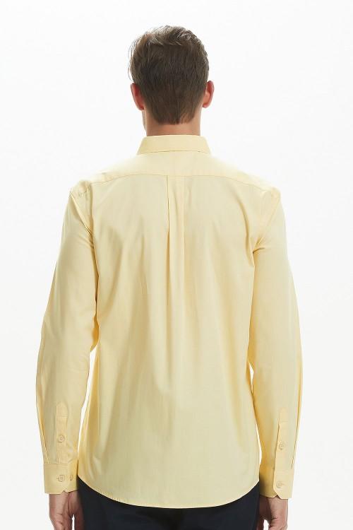 قميص رجال لون اصفر