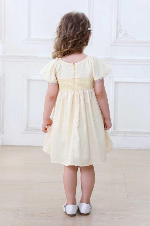 فستاني بناتي لون اصفر