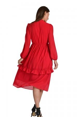 فستان نسائي لون احمر