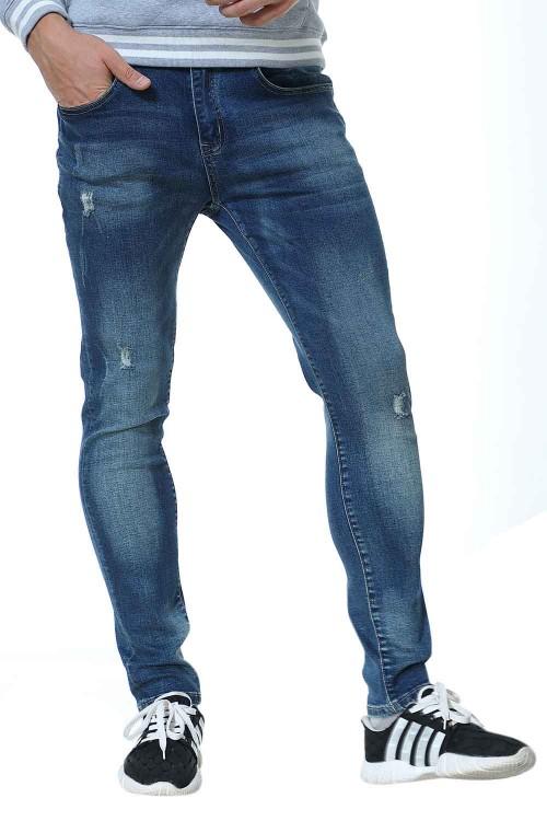 بنطلون جينز رجالي قطن مريح