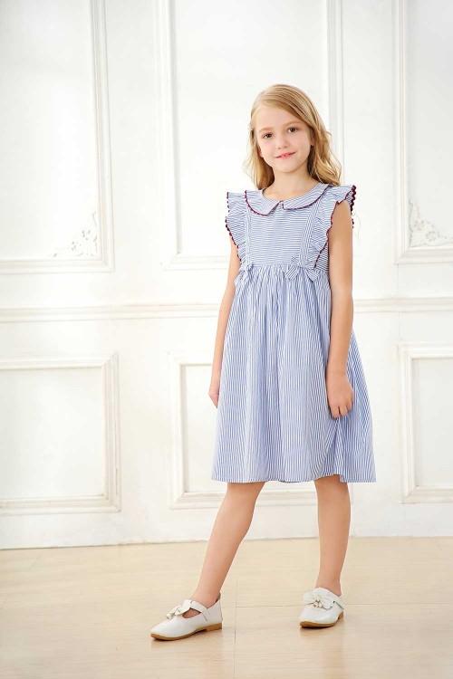 فستان بناتي لون ازرق