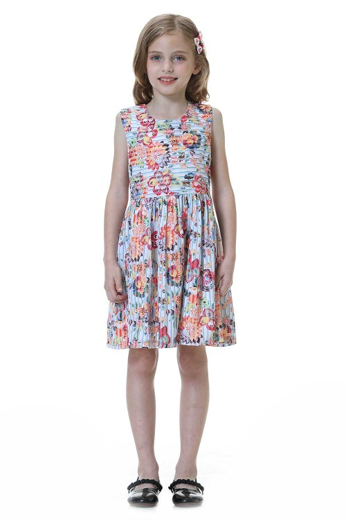 فستان بنات متعدد الالوان