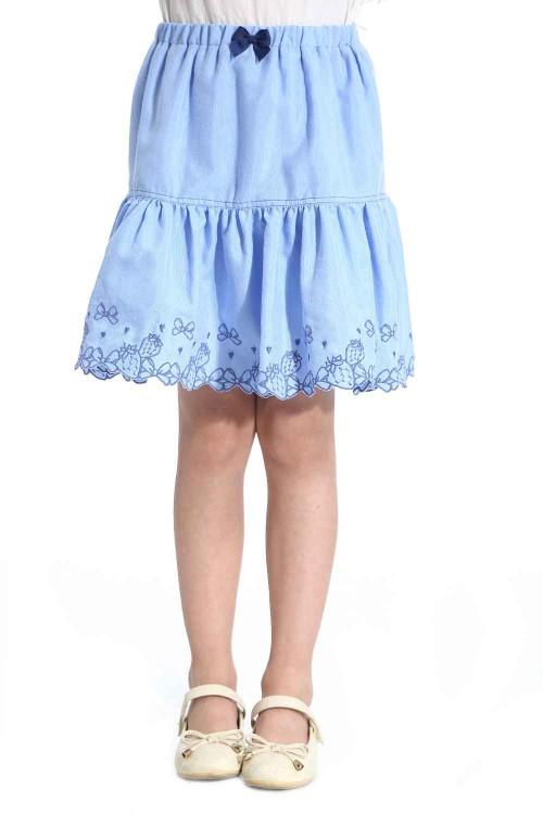 تنورة جينز بناتي لون ازرق