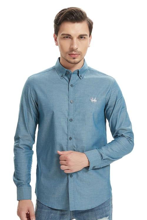 قميص جينز رجالي ازرق