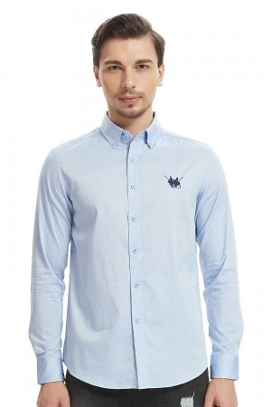 قميص رجالي ازرق سماوي