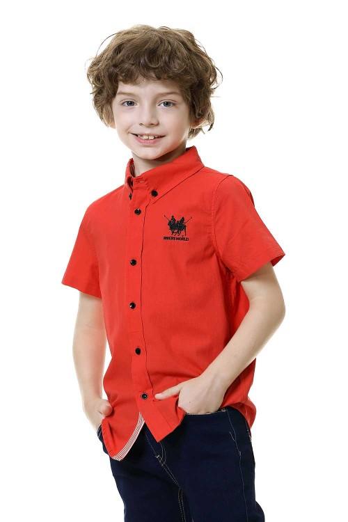 قميص اولاد قطن لون برتقالي