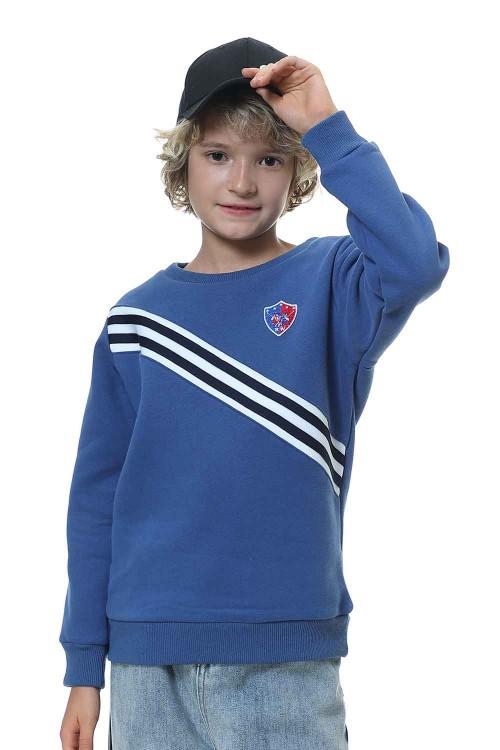 سويت شيرت اولاد لون ازرق