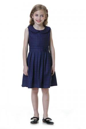 فستان بنات كحلي واحمر