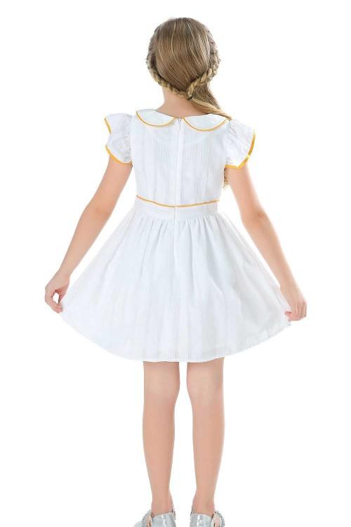 فستان بناتي قصير ابيض