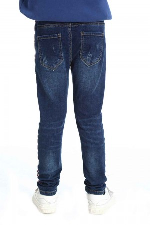 Blue Jeans Pants For Girls, Cotton