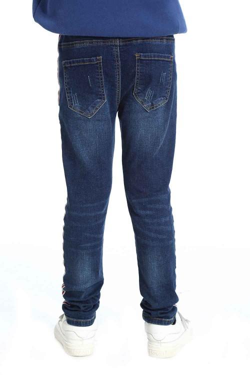 بنطلون جينز بناتي قطن ازرق