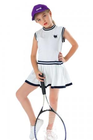 White Polo Dress For Girls
