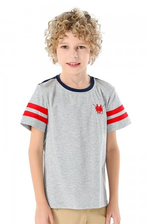 Grey T-Shirt For Boys