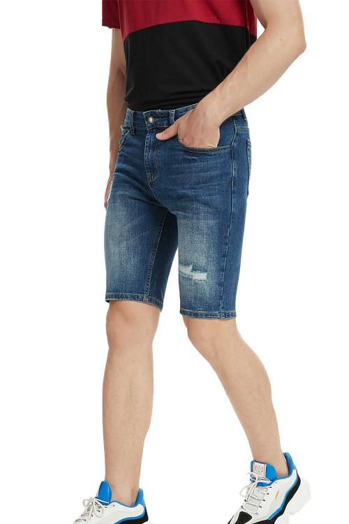 شورت جينز ازرق رجالي