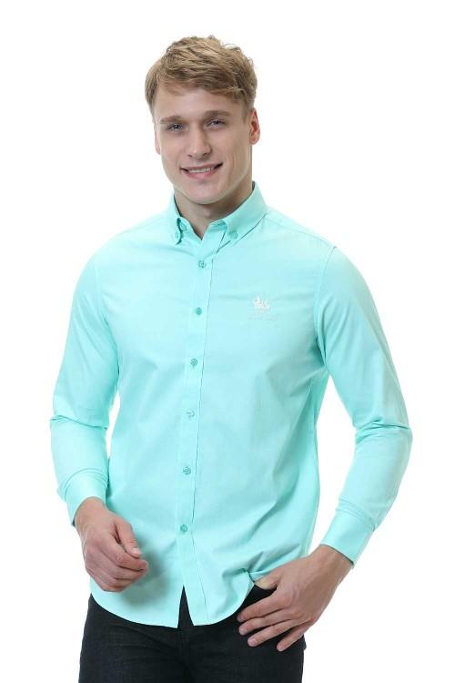 قميص رجالي ازرق فاتح