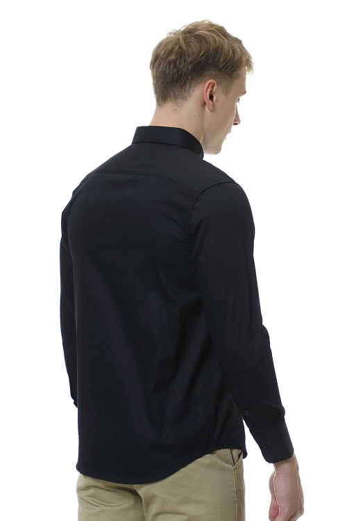 قميص رجالي اسود قطن 100%