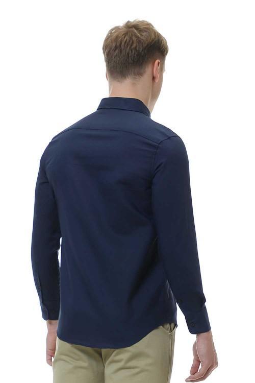 قميص رجالي كحلي قطن 100%