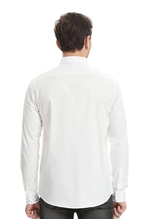 قميص رجالي ابيض