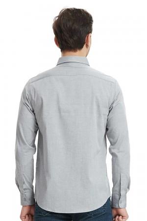 قميص رجالي لون رمادي