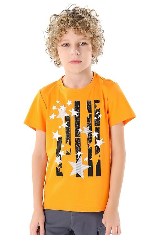 تيشيرت اولاد لون برتقالي