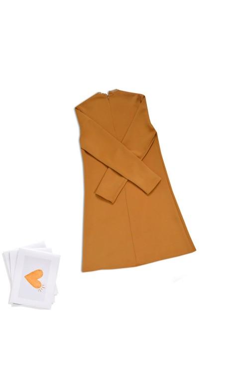 فستان بناتي ليكرا لون شوكو