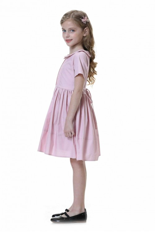 فستان بنات وردي