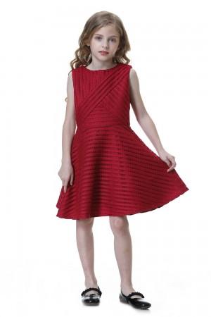 فستان بنات خمري