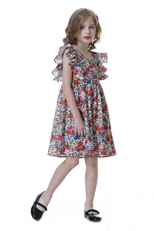 فستان بنات زهري