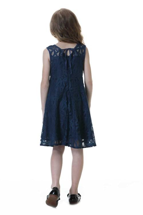 فستان بنات لون كحلي