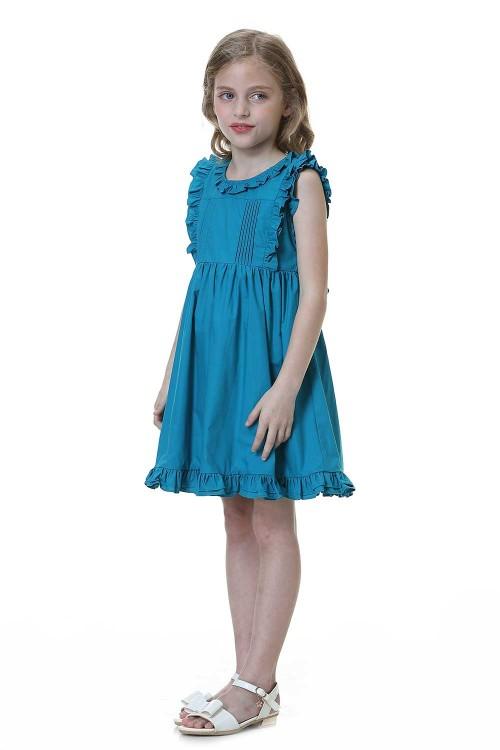 فستان بنات لون ازرق